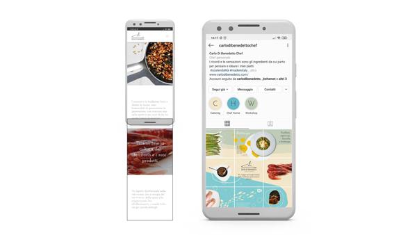 Carlodibenedetto work mockup sito instagram mobile