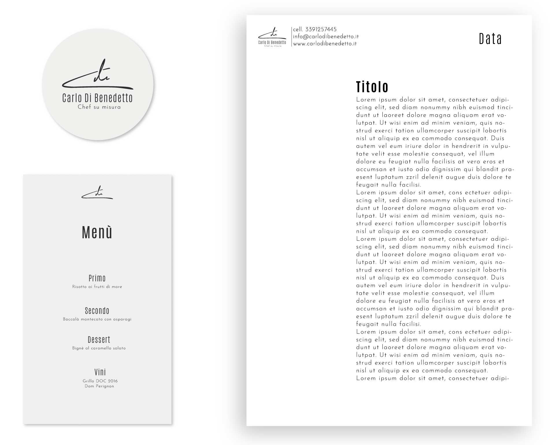 applicazioni carlo dibenedetto chef branding logo moodmama portfolio