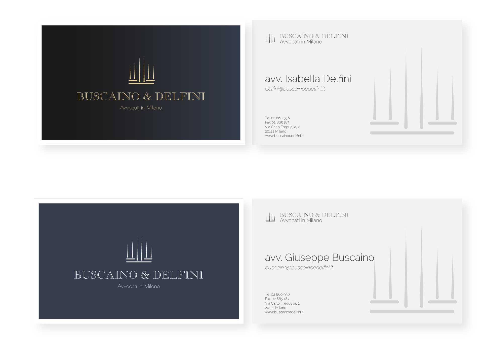 buscaino & delfini moodmama sito brochure web branding rebranding business card
