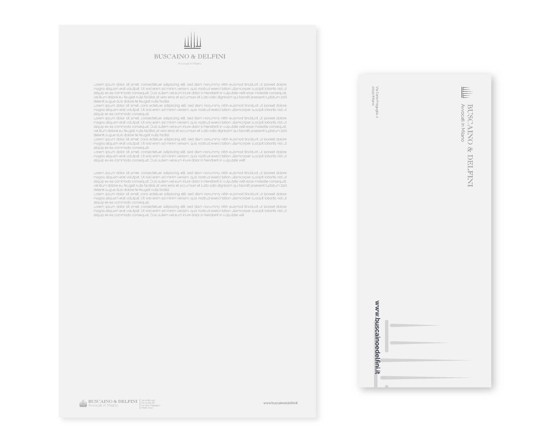 buscaino & delfini moodmama sito brochure web branding rebranding carta da lettere