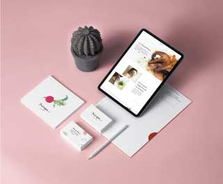 mimosa moodmama sito brochure web branding social eventi portfolio mockup mobile