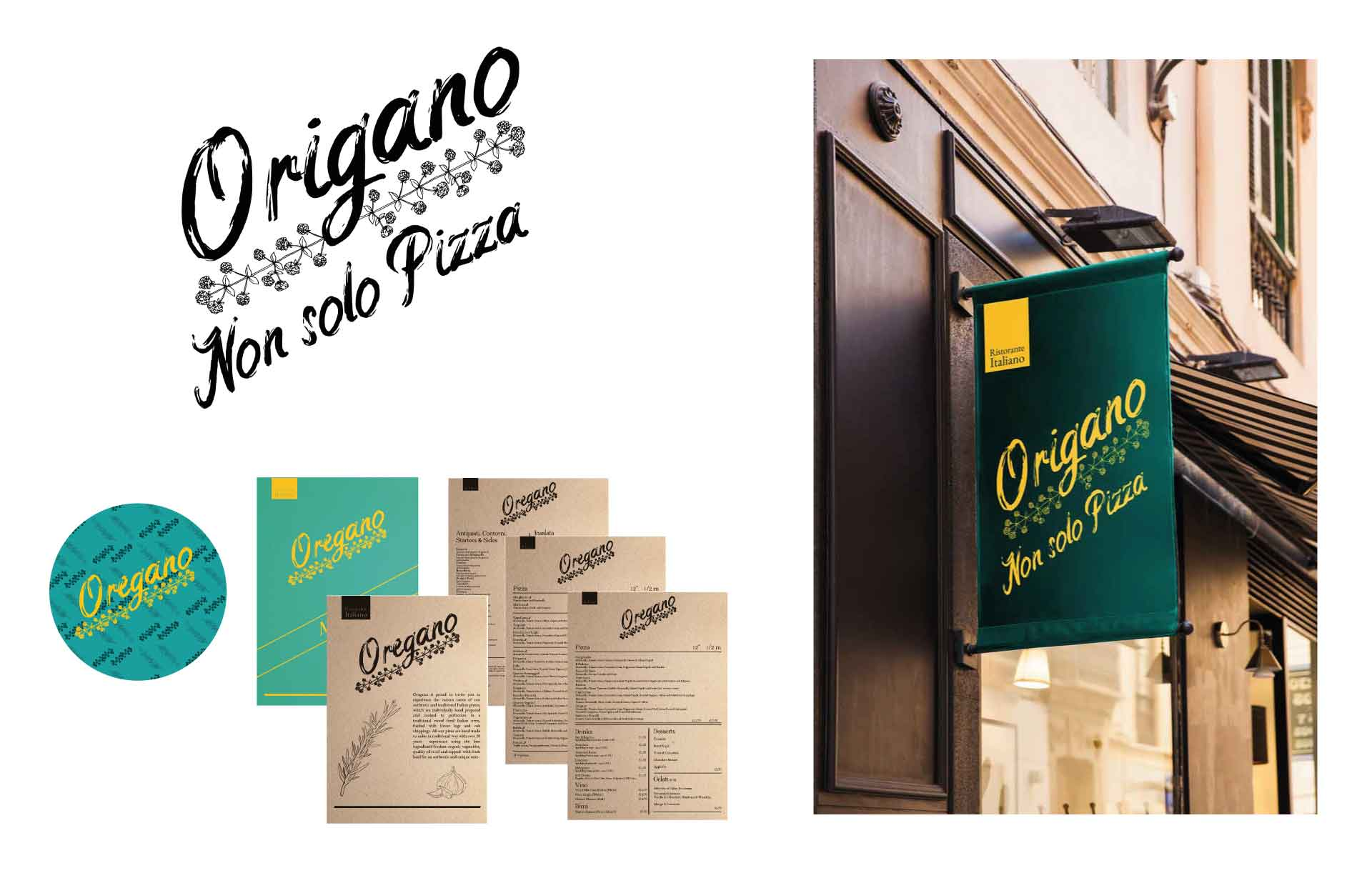 oregano menu ristorante italiano logo web design moodmama web agency